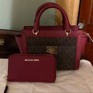 MICHAEL KORS SMALL MESSENGER & WALLET NWT